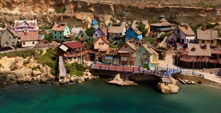 Popeye Village in Malta Stock Photo - 10685747
