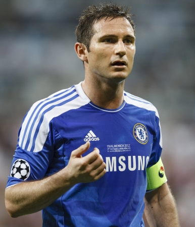 chelsea: MUNICH, May 19 - Frank Lampard of Chelsea during FC Bayern Munich vs. Chelsea FC UEFA Champions League Final game at Allianz Arena on May 19, 2012 in Munich, Germany.