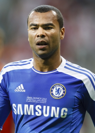 MUNICH, May 19 -  Ashley Cole of Chelsea  during FC Bayern Munich vs. Chelsea FC UEFA Champions League Final game at Allianz Arena on May 19, 2012 in Munich, Germany. 報道画像