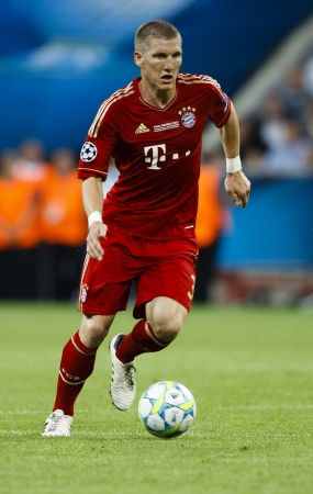 MUNICH, May 19 - Bastian Schweinsteiger of Bayern during FC Bayern Munich vs. Chelsea FC UEFA Champions League Final game at Allianz Arena on May 19, 2012 in Munich, Germany.
