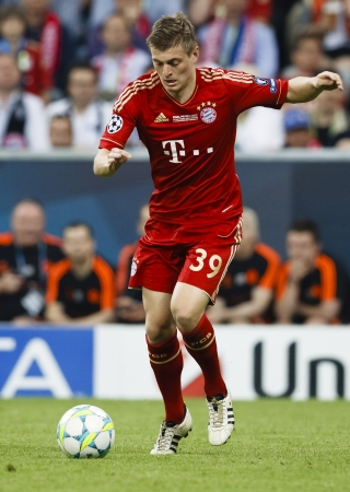 chelsea: MUNICH, May 19 - Toni Kroos of Bayern during FC Bayern Munich vs. Chelsea FC UEFA Champions League Final game at Allianz Arena on May 19, 2012 in Munich, Germany.