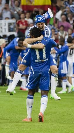 5 月 19 日 - ミュンヘン Chelseas の祭典勝利: ミュンヘン、ドイツ アリアンツ アリーナで 2012 年 5 月 19 日に FC バイエルン ミュンヘン対チェルシー FC UE