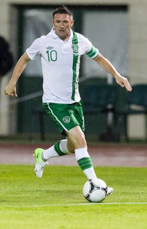 puskas: BUDAPEST, June 4 - Irish Robbie Keane during Hungary vs. Ireland friendly football game at Ferenc Puskas Stadium on June 4, 2012 in Budapest, Hungary.