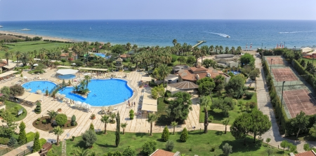 The Iberostar Bellis hotel at the Mediterranean Sea in Belek, Turkey 報道画像