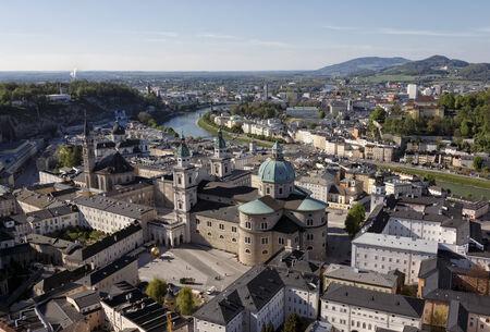 salzach: The downtown of Salzburg Stock Photo