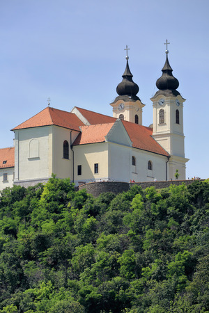the abbey: The Abbey in Tihany Editorial