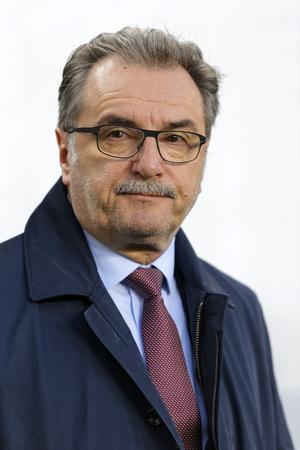 match head: BUDAPEST, HUNGARY - MARCH 26, 2016: Croatian head coach, Ante Cacic during Hungary vs. Croatia international friendly football match in Groupama Arena.