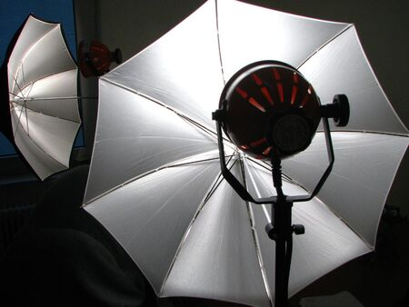 white photo umbrellas