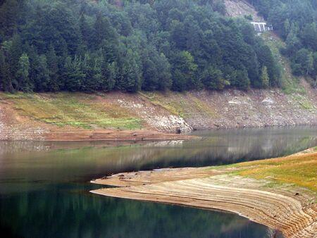 sunburned: mountain lake during summer
