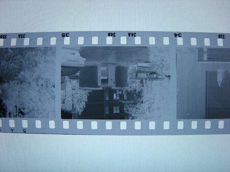 35mm: black and white negative 35mm film Stock Photo