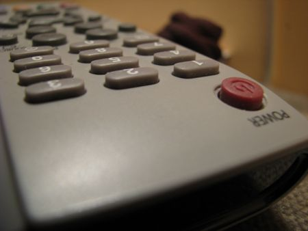 remote control extreme close-up