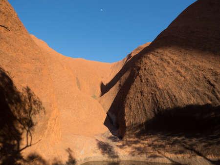 tjuta: Side view of the giant monolith uluru in Australia