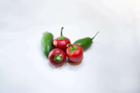 extremely: Different varieties of extremely hot chilli - hrabanero Stock Photo