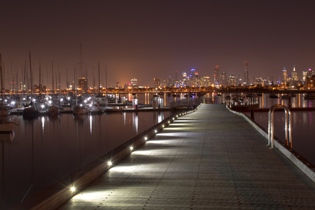 Melbourne, St Kilda Pier in winter - St Kilda pier is home for a colony of endangered fairy penguins