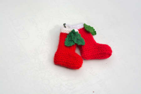 Knitted Christmas stocking ornaments - handmade