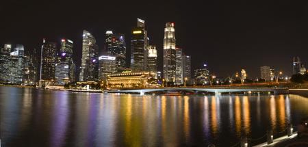 singaporean: 2017 January: Panoramic image of the Singapore Downtown area Editorial