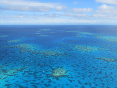Aerial view of the Great Barrier Reef - Agincourt Reefs, Australia Reklamní fotografie - 82695701