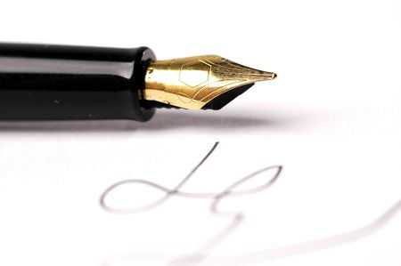 negotiable instrument: pen Stock Photo