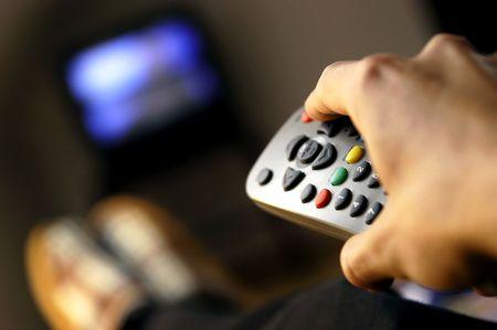 perezoso: Viendo la TV  Foto de archivo