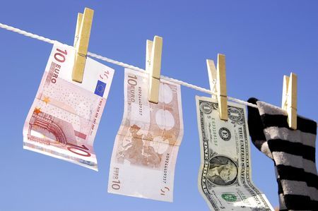 proceeds: Money laundering Stock Photo