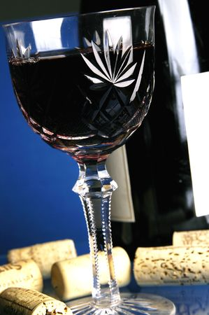 Glass with wine photo