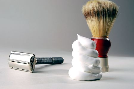 shaving blade: old razor