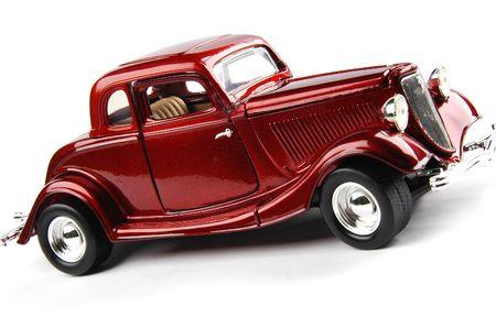 coche clásico: Rojo retro de coches