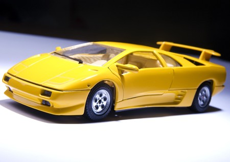Yellow sports lamborghini