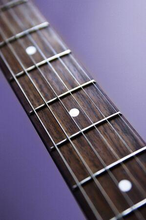 fingerboard: Guitar fingerboard Stock Photo