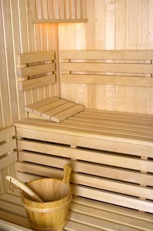luxuriate: Sauna interior Stock Photo