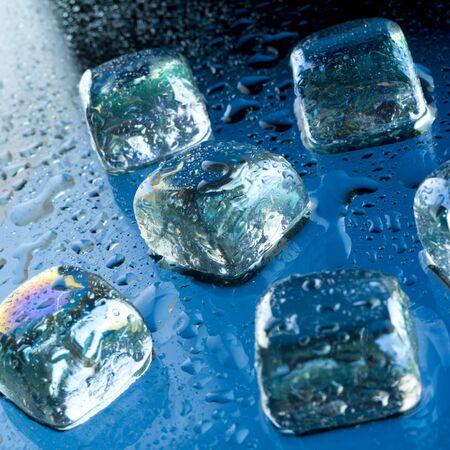 liquid state: ice cubes