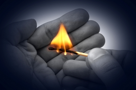 fire in hands