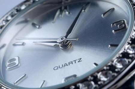 human wrist: watch close up