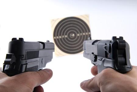 firearms: disparo Foto de archivo
