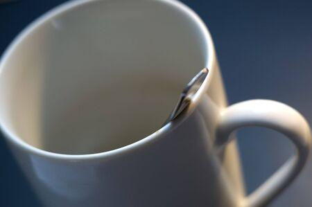 mug with spoon Stock Photo