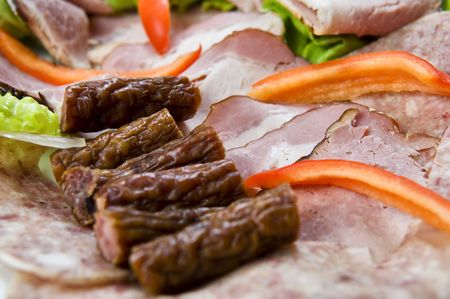 Meat plate Stock Photo