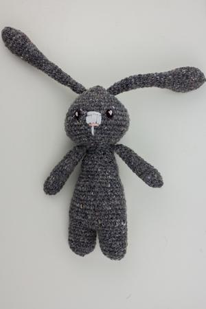 gray yarn rabbit