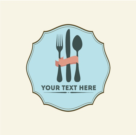 healt: Vintage Restaurant Logo Template Illustration