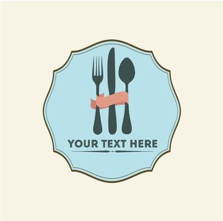 Vintage Restaurant Logo Template Stock Vector - 18600360