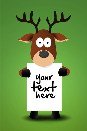 xmass: Cute reindeer with white table