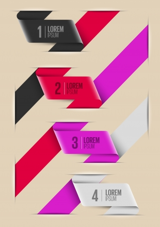 Modern info graphic design template.Colorful website layout Vector