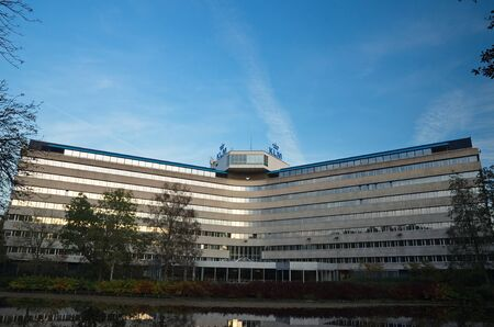 klm: Amstelveen, Netherlands - 31 October, 2015: Back view of the KLM Headquarters Building on the Amsterdamseweg Editorial