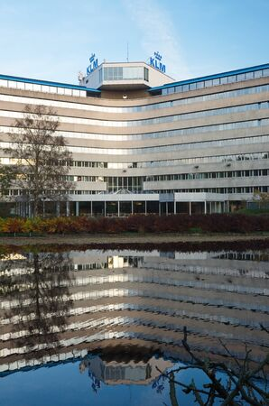 headquarters: Amstelveen, Netherlands - 31 October, 2015: Back view of the KLM Headquarters Building on the Amsterdamseweg Editorial
