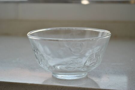 crystal bowl: Crystal clear transparent glass bowl