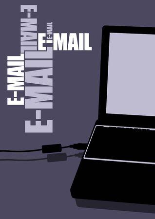 e-mail laptop photo