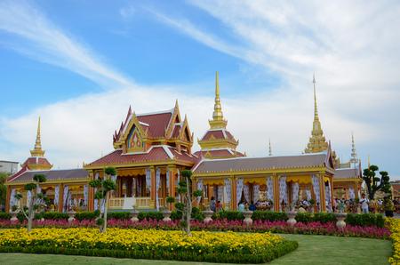bejaratana: The Royal Cremation Ceremony of Prince Bejaratana Rajasuda Sirisobhabannavadi. Members of the Sanam Luang, Bangkok, Thailand. April 16, 2012 Stock Photo