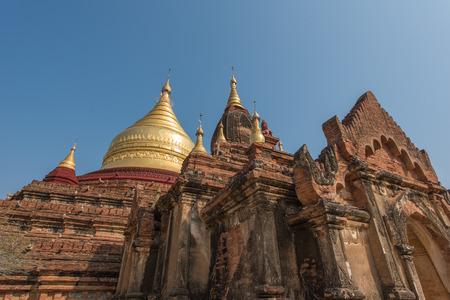dhamma: Dhamma Ya Zi Ka Pagoda in Bagan, Myanmar Stock Photo