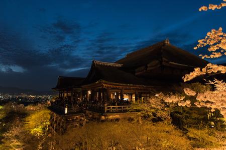 dera: Kiyomizu dera temple , light up in spring