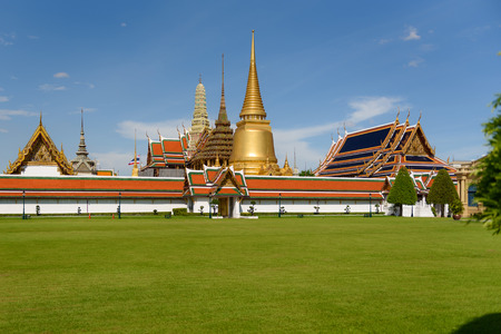 Wat Phra Kaew is one of the most popular tourists destination in Bangkok Thailand Editorial
