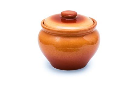 Ceramic pot isolated on white background Stock fotó